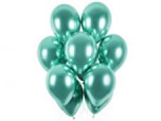 Baloni metāliski, hroma, zaļi, mint, GEMAR, 33cm