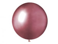 Baloni metāliski, hroma, rozā, GEMAR, 48cm