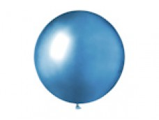 Baloni metāliski, hroma, zili, GEMAR, 48cm