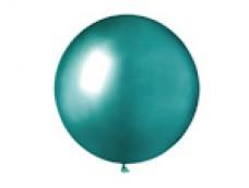Baloni metāliski, hroma, zaļi, mint, GEMAR, 48cm