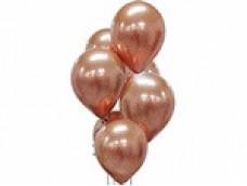 Baloni metāliski, hroma, zelta, rozā, platinum, 30 cm