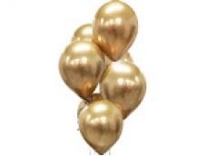 Baloni metāliski, hroma, zelta, platinum, 30 cm, 50 gab.
