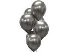 Baloni metāliski, hroma, sudraba, tumši, platinum, 30 cm, 50 g