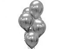 Baloni metāliski, hroma, sudraba, platinum, 30 cm, 50 gab.