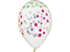 Baloni Konfeti, apļi, krāsaini, Gemar, 33cm