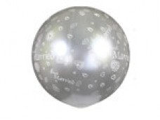"Baloni XL 69cm, GEMAR - caurspīdīgi ""Just Married"""