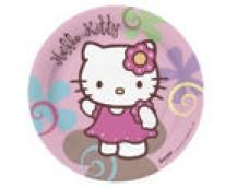 Papīra šķīvis Hello Kitty - 18cm (10 gab.)