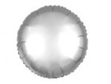 Folijas balons 81cm aplis, sudraba