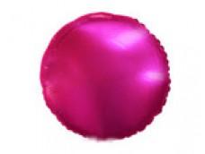 Folijas balons 46cm aplis, rozā, tumši