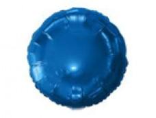 Folijas balons 46cm aplis, zils, tumši