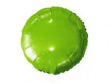 Folijas balons 46cm aplis, zaļš, gaiši