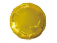 Folijas balons 46cm aplis, zelta