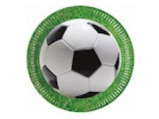 """Papīra šķīvis """"Futbols"""" - 23cm (8 gab.)"""