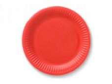 Papīra šķīvis, sarkans - 23cm (6 gab.)