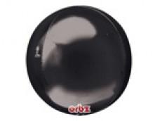 Folijas balons 40cm XL - bumba, ORBZ, melna