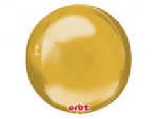 Folijas balons 40cm XL - bumba, ORBZ, zelta