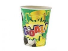 "Papīra glāzes ""Goal!"" (6 gab.)"