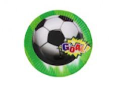 "Papīra šķīvis ""Goal!"" - 18cm (6 gab.)"