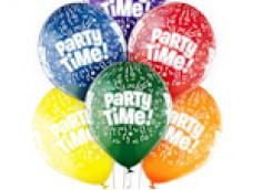"""Baloni """"Party Time"""" ballītes laiks, Belbal, 29cm"""