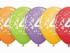 "Baloni Cipars ""4"" QUALATEX (5 gab.)"
