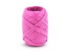 Lentīte rozā, fuksiju, rafijas, 5mm (10m)