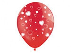 Baloni Sirsniņas sarkans/balts, BelBal, 29cm