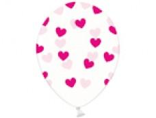 Baloni Sirsniņas caurspīdīgas/rozā, tumši, BelBal, 29cm