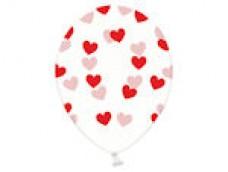 Baloni Sirsniņas caurspīdīgas/sarkanas, BelBal, 29cm
