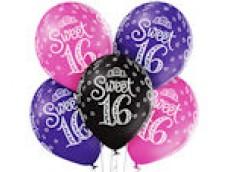 "Baloni Cipars 16 - ""Sweet 16"", saldie, Belbal 29cm"