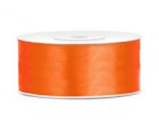 Lentīte oranža, satīna, 25mm (25m)