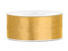 Lentīte zelta, satīna, 25mm (25m)