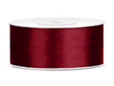 Lentīte sarkana, tumši, satīna, 25mm (25m)