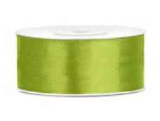 Lentīte zaļa, gaiši, satīna, 25mm (25m)