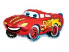 Folijas balons 60cm - Flexmetal, Auto, sarkans, smaidošs