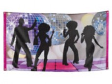 Disko ballītes dekors - baneris
