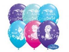Baloni 29cm, Frozen - ledus sirds, QUALATEX