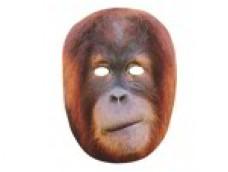 Orangutāns - maska, kartona
