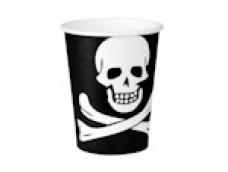 Papīra glāzes - Pirāts (6 gab.)