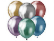 Baloni  Mix, metāliski, hroma, platinum, 30 cm, 50 gab.