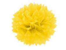 POM-POM Zīdpapīra bumba, dzeltena 40cm