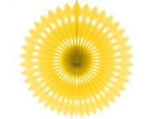 Zīdpapīra rozete, dzeltena 40cm