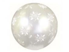 "Baloni XL 69cm, GEMAR - pērļu balti ""Rozes"""