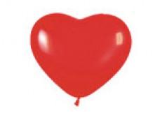 Baloni 24,5cm - sarkana sirds