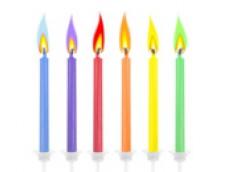 Svecītes - krāsu liesmiņas (6 gab.)