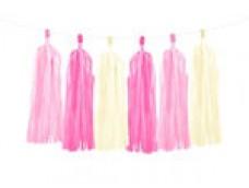 Virtene - 12 pušķi, rozā toņi