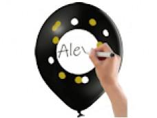 """Baloni """"Uzraksti pats"""" - """"Write on"""", Belbal 29cm"""