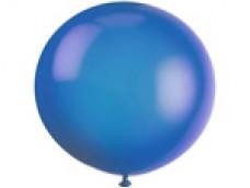 Baloni zili, caurspīdīgi, 89cm, JUMBO
