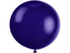 Baloni lillā, tumši, caurspīdīgi, 89cm, JUMBO