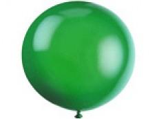 Baloni zaļi, caurspīdīgi, 89cm, JUMBO