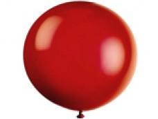 Baloni sarkani, caurspīdīgi, 89cm, JUMBO